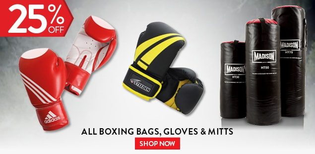 All Boxing Bags, Gloves & Mitts