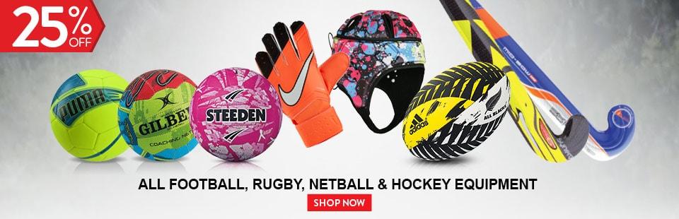 All Football, Rubgy, Netball & Hockey Equipment