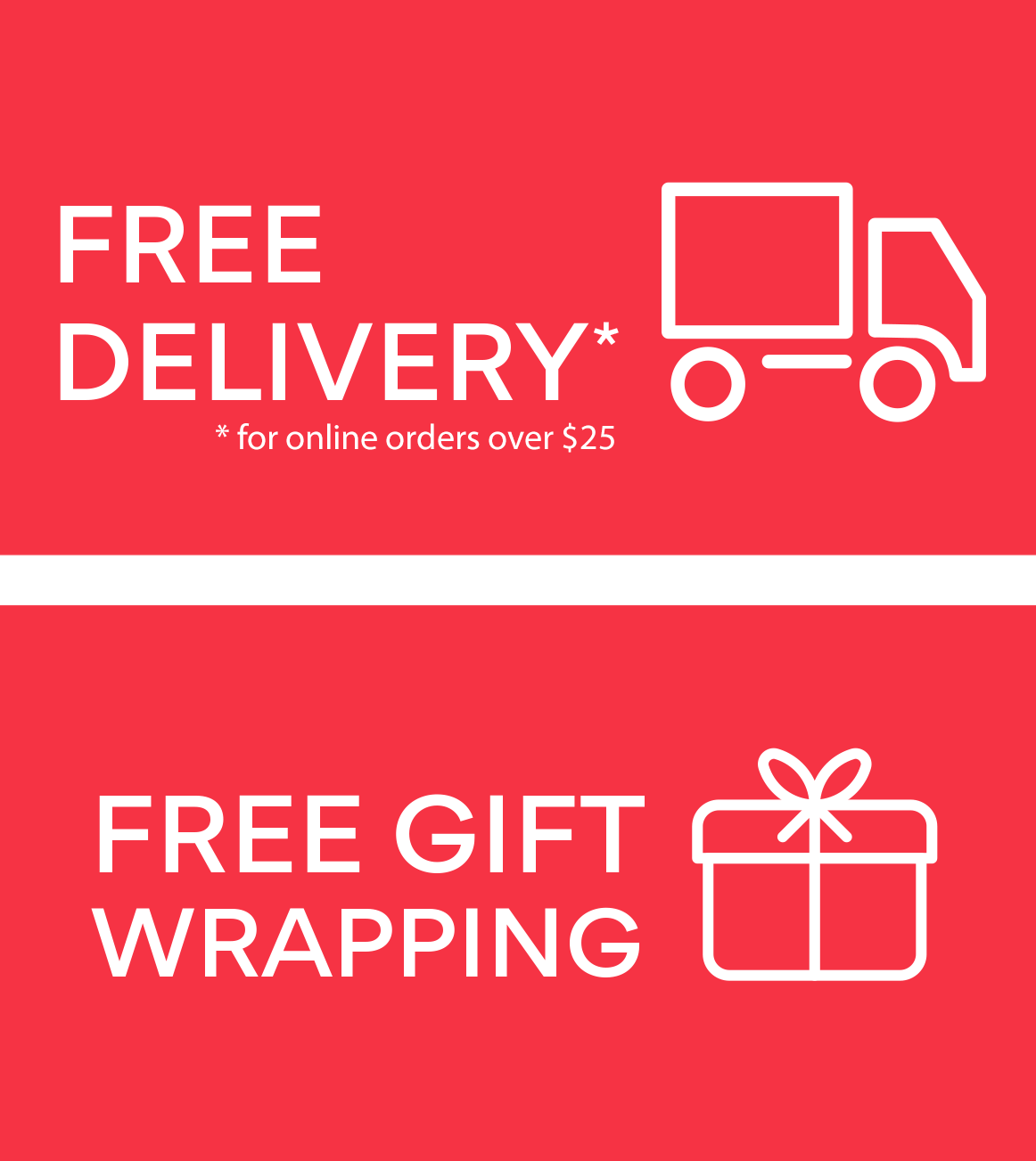 Free delivery & Gift wrapping